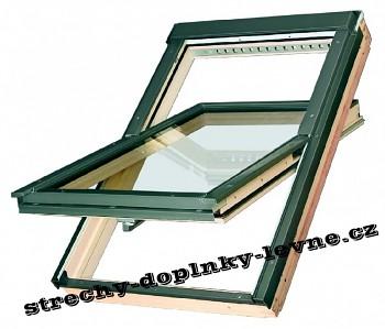 Střešní okno dřevěné kyvné Fakro FTP-V U3, 78 x 98 cm