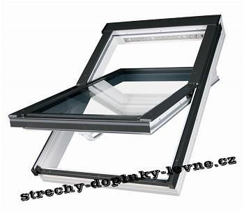 Střešní okno plastové kyvné Fakro PTP-V U3 55 x 78 cm bílé