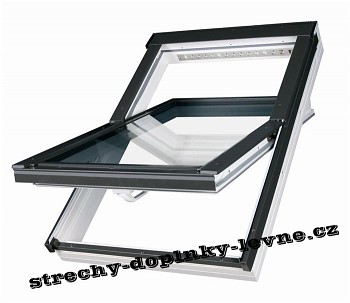 Střešní okno plastové kyvné Fakro PTP-V U3 78 x 118 cm bílé