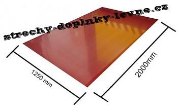 Plech tabulový, pozink lakovaný - lesk 1,25 x 2 m