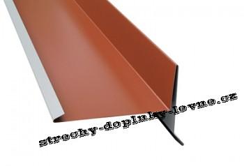 Štítové lemování spodní - lesk r.š. 250 mm