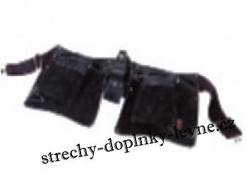 Montážní pás kožený černý